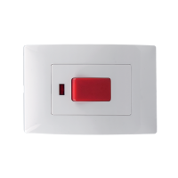 LECCE DOUBLE POLE SWITCH 45A WHITE