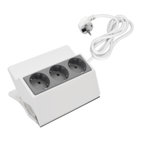 THREE WAY CLIP MULTIPLUG 3x1.0mm2 1.5m