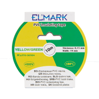 INSULATING TAPE 10mx19mm YELLOW/GREEN