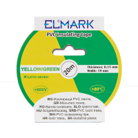 INSULATING TAPE 20mx19mm YELLOW/GREEN