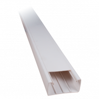 2M 20X10 ADHESIVE PLASTIC CABLE TRUNKING CT2