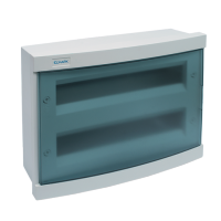 PLASTIC DISTRIBUTION BOX 24 WAY – BUILT-IN MOUNTING, BLUE COVER