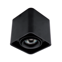 DL-044 SQUARE SINGLE DOWNLIGHT SURFACE MOUNTED BLACK