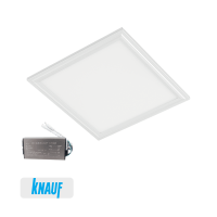 LED PANEL FOR DRYWALL 48W 6400K 595x595mm WHITE+EMERGENCY KIT