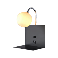 BETTY WALL LAMP 1xG9 WITH USB BLACK