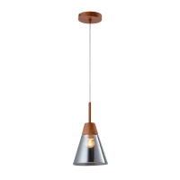 BRADLEY PENDANT 1xE27 GREY/WOOD