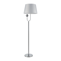 CARMEN FLOOR LAMP 1xE27 WHITE/CHROME