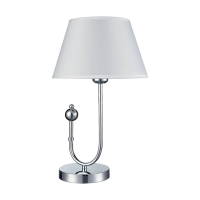 CARMEN TABLE LAMP 1xE27 WHITE/CHROME