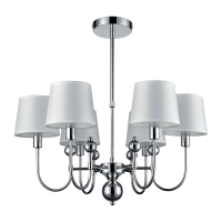 CARMEN CHANDELIER 6xE27 WHITE/CHROME