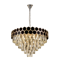 CATHERINE CHANDELIER 17хE14 D600 GOLD/BLACK