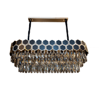 CATHERINE CHANDELIER 17хE14 330x1000mm GOLD/BLACK