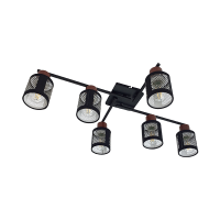 DELIA CEILING LAMP 6XE27 BLACK