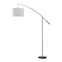 LEDA FLOOR LAMP 3XE27 SATIN NICKEL