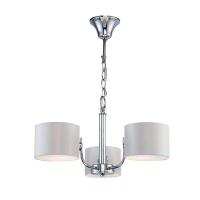 MELODY CHANDELIER 3xE27 CHROME/WHITE