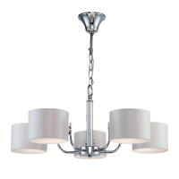 MELODY CHANDELIER 5xE27 CHROME/WHITE