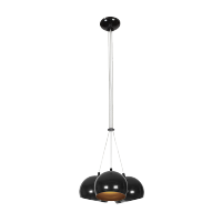 PEARL CHANDELIER 3xE27 BLACK/GOLD