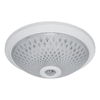 CEILING FIXTURE WITH SENSOR 2XE27 D300mm WHITE
