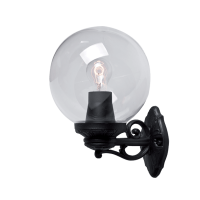 GLOBE 250 GARDEN WALL LAMP 1XE27 IP55 BLACK
