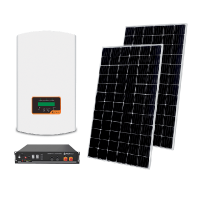 HYBRID SOLAR SYSTEM 1P/5KW MONOCRYSTALLINE WITH BATTERY 2.4kW, SET