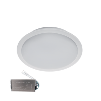 LED PANEL ROUND WATERPROOF 10W 4000K IP65+ EMERGENCY KIT