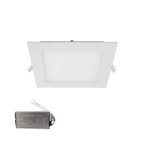STELLAR LED PANEL SQUARE RECESSED MOUNT 18W 4000K+ EMERGENCY KIT