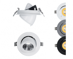 How do you determine the required number of LED downlights in every room in your home?