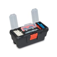 PLASTIC TOOL BOX WITH ORGANIZER 22