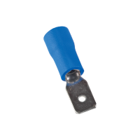 INSULATED CABLE TERMINALS MDD MALE 2-187/BLUE (100 pcs. per pack)