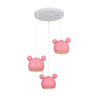 MICKEY CHANDELIER 3XE27 PINK