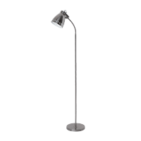 NOAH FLOOR LAMP 1XE27 SATIN NICKEL H1320mm