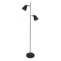 TOM FLOOR LAMP 2XE27 BLACK H1550mm
