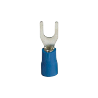 SVS 2-4 INSULATED FORK TERMINALS/BLUE (100 pcs. per pack)