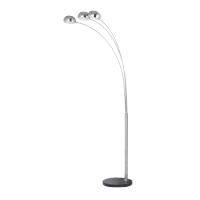 DANN FLOOR LAMP 1XE27 SATIN NICKEL H2000mm