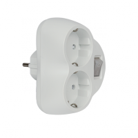 ADAPTER DOUBLE WHITE WITH KEY