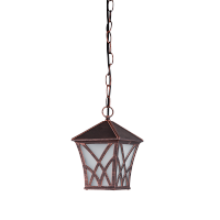 ALEK LANTERN HANGING 1XE27 BLACK RED BRASS