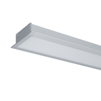 LED PROFILES RECESSED MOUNTING S48 32W 4000K 1500MM GREY