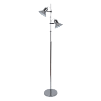 ROB FLOOR LAMP 2XE27 CHROME H1540mm