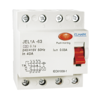 RESIDUAL CURRENT DEVICE JEL1A 4P 100A/500MA