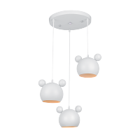 MICKEY CHANDELIER 3XE27 WHITE