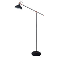 JOHN FLOOR LAMP 1XE27 BLACK H1500mm