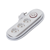 MULTIPLUG ТRIPLE 2M H05VV-F 3G1.5mm2+KEY